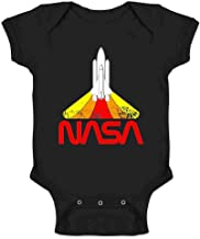 NASA Approved Blast Off Retro Worm Logo Infant Baby Boy Girl Bodysuit