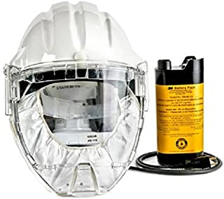 3M Airstream Headgear-Mounted Powered Air Purifying Respirator (PAPR) System, Respiratory Protection AS-400LBC, NiCd Rechargeable Battery