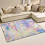 Top Carpenter Holographic Iridescent Metallic Area Rug Pad for Dining Room Bedroom 5'x3'