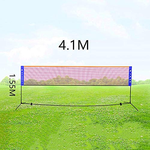 LYYJIAJU Tragbare Badminton Net Set for Fußball Tennis, Pickleball, Kinder Volleyball Indoor Outdoor Platz, Hinterhöfe, Beach Sport, Tragetasche inklusive, 4.1M
