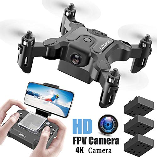 WEIFENG Mini-Drohne 4K HD-Kamera Hight-Hold-Funktion RC Quadcopter RTF WiFi FPV Quadcopter Follow Me RC Hubschrauber