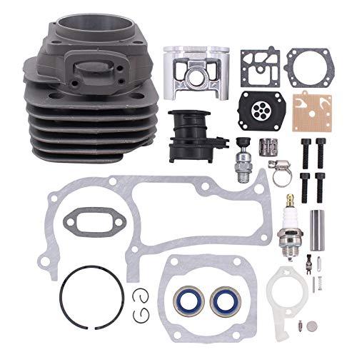 ApplianPar 52mm Cylinder Piston Pin Ring Gasket Overhaul Kit for Husqvarna 372XP 371 365 362 375K Big Bore Chainsaw Parts 503 93 93 72