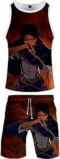 Pyjamas Set Mens T Shirt Short Sleeves Shorts Boys' Pyjama Sets Beach Shorts Sportswear Unisex Beachwear 3D Anime Wear Pyj...