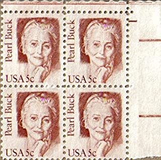 1983 PEARL BUCK ~ WRITER #1848 Plate Block of 4 x 5 cents US Postage Stamps