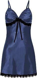 Cimaybeauty Womens Sexy Nighte Dress Plus Size Lace Bow Lingerie Babydoll Nightwear