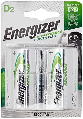 Energizer Wiederaufladbare Batterien D, Recharge Power Plus, 2 Stück