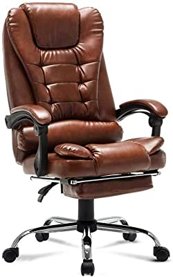 XUERUI 360 Degree Swivel Swivel Chair PU Household Office Computer Chair Can Lie Down Modern Simple