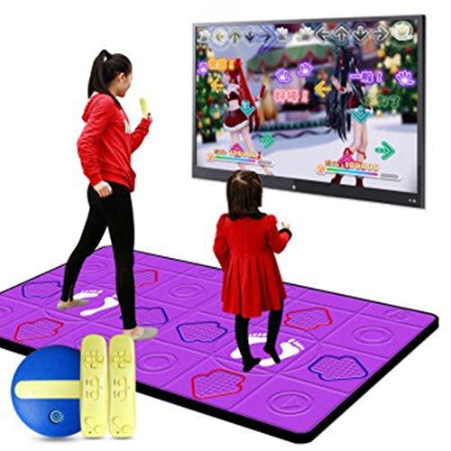 XYW Alfombra Baile Personas Dobles PC TV 2 En 1 Tapete Baile Antideslizante Manta De Juego 30 mm de Espesor Somatosensorial Máquina de Baile para Adultos y niños,A
