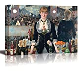 A Bar at The Folies Bergere by Edouard Manet - Edouard Manet Giclee Canvas Prints Wrapped Gallery Wall Art | Stretched and Framed Ready to Hang - 24' x 36'