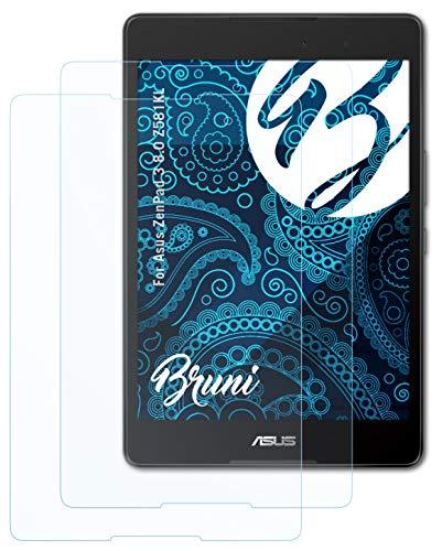 Bruni Schutzfolie kompatibel mit Asus ZenPad 3 8.0 Z581KL Folie, glasklare Bildschirmschutzfolie (2X)