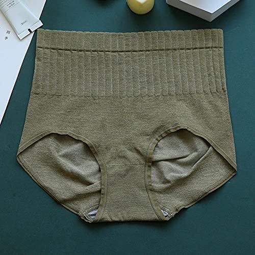 Yumanluo Bragas Algodón Mujer,Ropa Interior de Mujer 3 Piezas, Bragas Transpirables de Abdomen de Cintura Alta-C * 3_M (Peso: 40-75 kg),Cómoda y Suave Braguita Baja Cintura Culotte