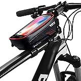 Guijiyi Dewanxin Bolsa Bicicleta Manillar para Ciclista Ciclismo,Bolso de Bici Impermeables con Pantalla Táctil Sensible,Soporte Móvil Teléfono para Teléfonos Móviles Inferior de 6.5 Inches
