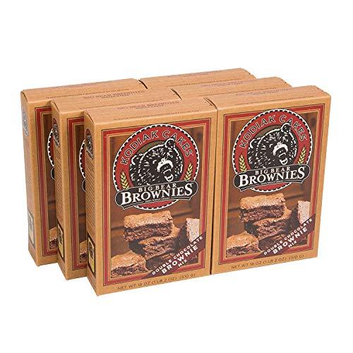 Kodiak Cakes Big Bear Brownie Mix, Double Chocolate Chunk, 18 Ounce, Pack of 6
