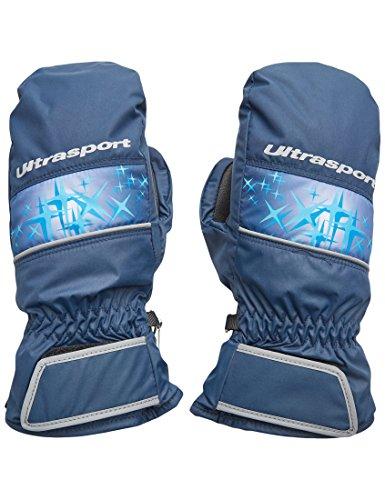 Ultrasport Kinder Basic Starflake Ski-fäustling, Marine Blau/Victoria Blau, 6-8 Jahre