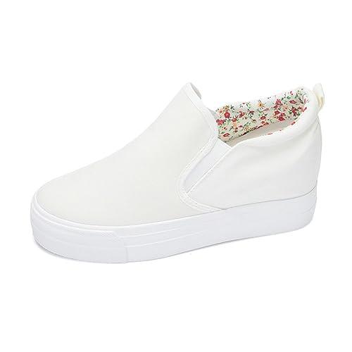 7da8334fc23d Wedge White Sneakers: Amazon.com