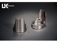 ユーカナヤ アルミ削り出しビレットフォークガード ガードカラー:チタン リングカラー:チタン XJR400 FGTITIYA12