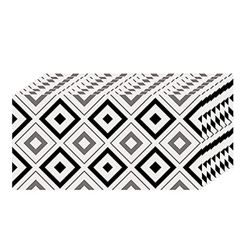 QWNDTIE PVC Azulejos Adhesivos,30cm x 60cm Mármol Mosaico Pegatinas de Azulejos Autoadhesivo,Efecto 3D, Cenefa Autoadhesivo, para Cuarto de baño y Cocina Decoració(Color:K,Size:20pcas)