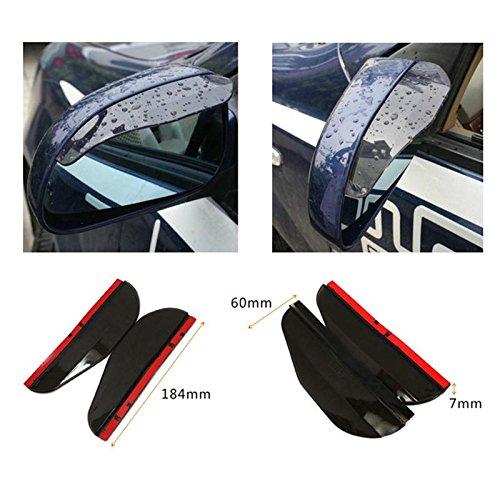 Calistouk Auto Außenspiegel Rückspiegel Transparent Aufkleber Set Folie von Finest-Folia GmbH