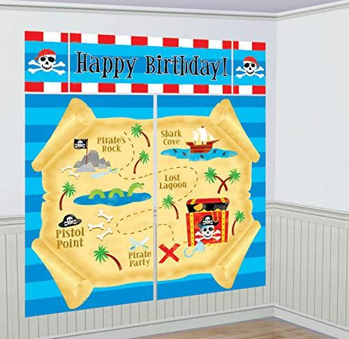 Décoration murale Happy Birthday Pirate