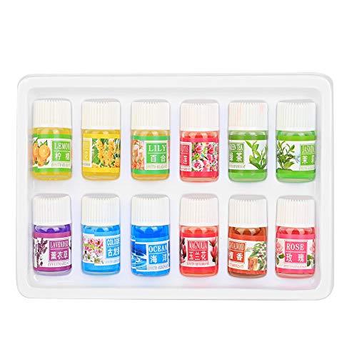 Oli essenziali, aromaterapia 12 Oli puri al 100% naturali 3 ml di fragranti piante naturali solubili in affaticamento dell'acqua allevia l'olio essenziale per umidificatori e diffusori, spa