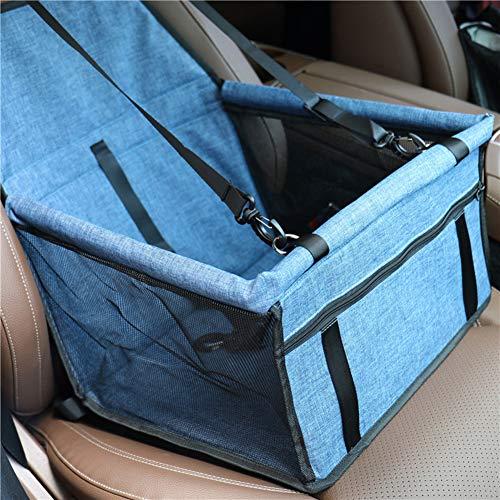 WEWE PET Emmer Booster Auto Stoel, Met Verstelbare Veiligheidsriem Waterdichte Vouwen Reizen Veiligheid Zitzak Voor Kleine Honden, 40x30x25cm(16x12x10inch), A