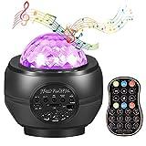 Lámpara Proyector Estrellas, Depmog 27 Modos LED Proyector Mar Versión Nueva Luz Noctura con Altavoz Música Bebé Ambiente 63 Combinaciones
