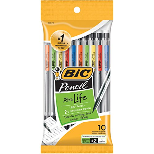 BIC Xtra-Life Mechanical Pencil, 0.7mm, 10 Ct