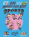 101 Mazes For Kids: SUPER KIDZ Book. Children - Ages 4-8 (US Edition). Cartoon Sports Rugby Exercise with custom art interior. 101 Puzzles with ... ultimate mazes book for fun activity time!