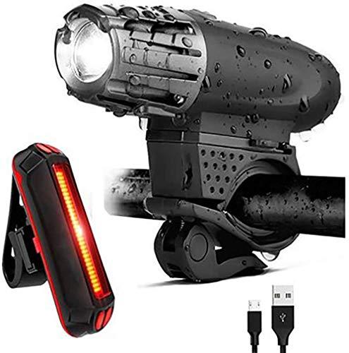 FAGUANG Nueva luz Lateral autopropulsada luz de Advertencia de Bicicleta de montaña USB Impermeable Carga de Bicicleta luz Delantera Accesorios de Bicicleta