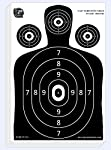 Dynamic Shooters – 100 Pack 17X25-inch Made in USA Large Paper Silhouette Range Shooting Targets - Firearm, Rifle, Gun, Pistol, BB Guns, Airsoft, Pellet Gun, Air Rifle