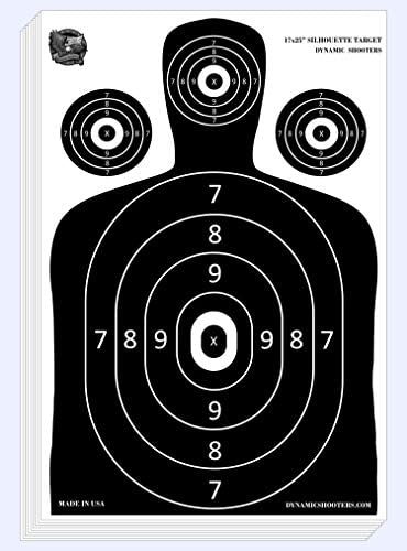 Dynamic Shooters 50 Pack 17X25 inch Made in USA Large Paper Silhouette Range Shooting Targets product image