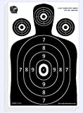 Dynamic Shooters – 50 Pack 17X25-inch Made in USA Large Paper Silhouette Range Shooting Targets - Firearm, Rifle, Gun, Pistol, BB Guns, Airsoft, Pellet Gun, Air Rifle