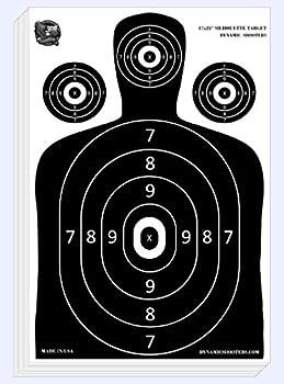 Dynamic Shooters – 100 Pack 17X25-inch Made in USA Large Paper Silhouette Range Shooting Targets - Firearm Rifle Gun Pistol BB Guns Airsoft Pellet Gun Air Rifle