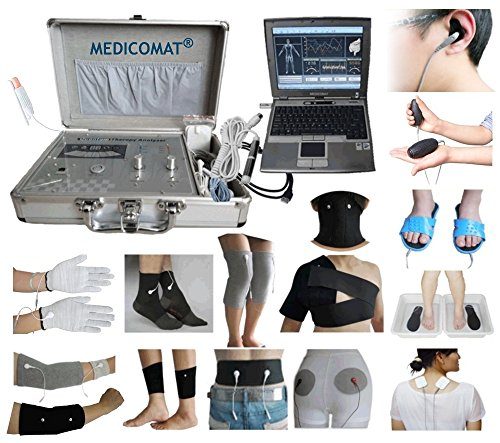 Whole Gezondheidsanalyzer therapie Medicomat-291U totale lichaamstesting laser geleidende sokken handschoenen knieelboogbescherming riem hals armband enkel Sewing Elbow schouder onderbroek