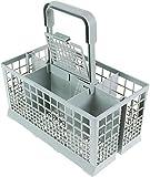 Qualtex Universal Dishwasher Cutlery Silverware Basket Holder Grey,...