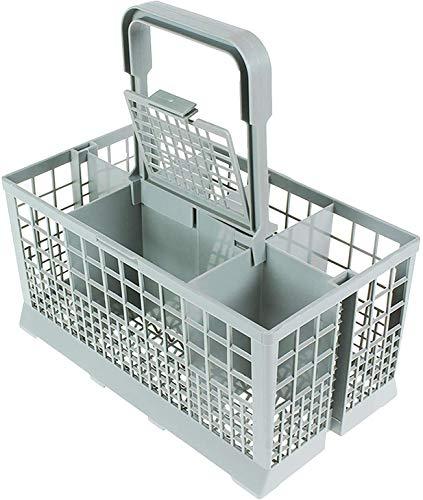 Qualtex Universal Dishwasher Cutlery Silverware Basket Holder Grey, 240mm x 140mm x 240mm