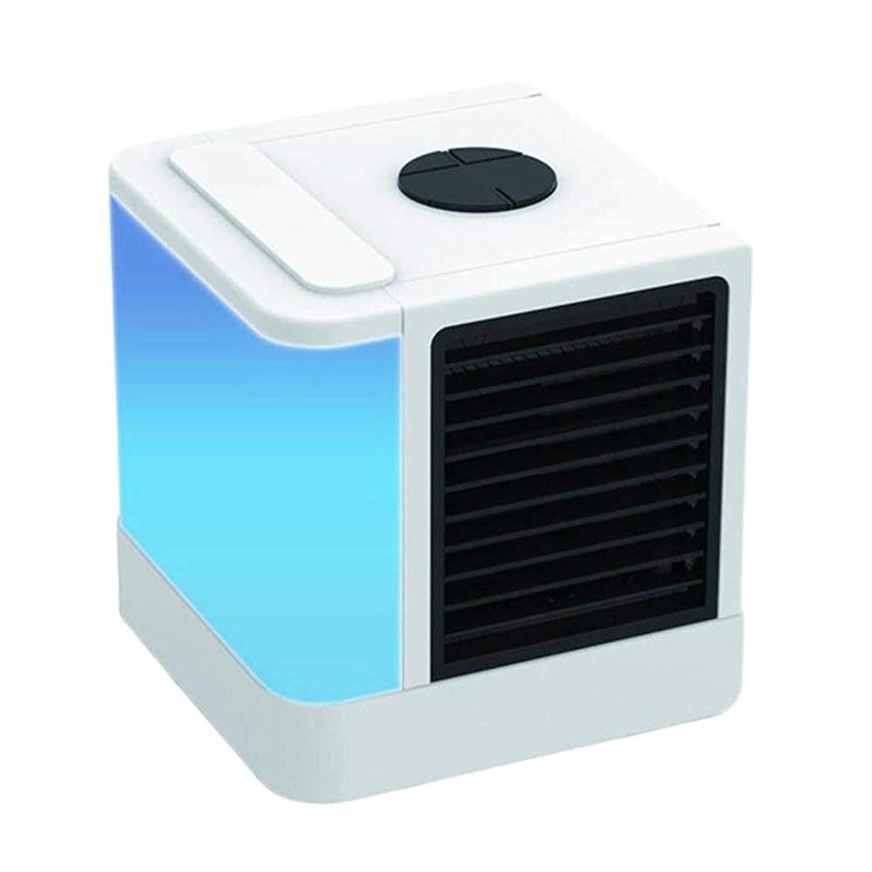 オフィスホームアウトドア用ポータブルミニ空気清浄加湿器コンディショナーデスクトップクーラーファンのUSB充電式