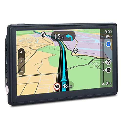 GPS Navigation for Car, 7 Inch Car GPS Updated 8GB Sat-Nav LCD Touch Screen GPS Navigation System, Lifetime Free Maps