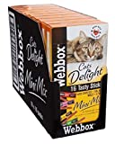 Webbox Delight Gatto Mini Bastoncini Assortiti, 16 Bastoncini,...