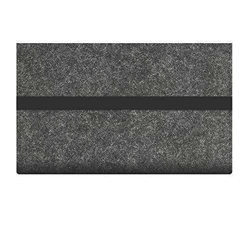 Tastatur Tasche Aufbewahrung Schutz Filz Kompakt Reise Anti Shock Zubehör Tragen Hülle Flexible Tragbar für Logitech K380 (für 380Light Grau) - Dunkelgrau, for 380