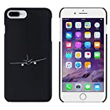 Azeeda Schwarz 'Eingehendes Flugzeug' Hülle für iPhone 7 Plus (MC00103377)