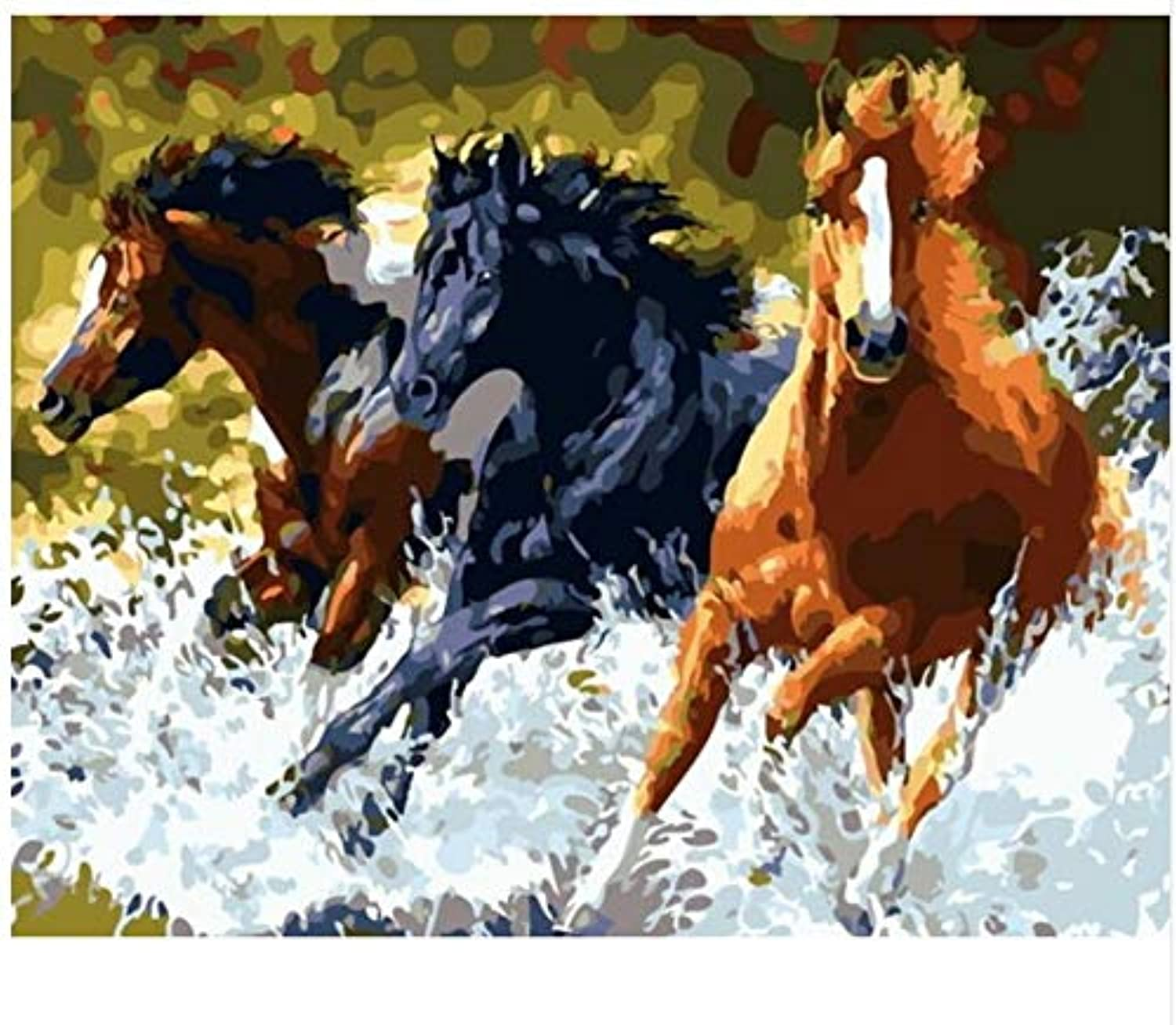 Superlucky DIY Digital Oil Painting by Numbers of Horses Painting&Calligraphy Home Decor Wall Art 40x50cm Mit Rahmen B07J5F3T5M | Toy Story