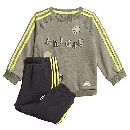 adidas Baby Graphic French Terry Jogging Anzug, Leggrn/Leggrn/Shoyel, 104
