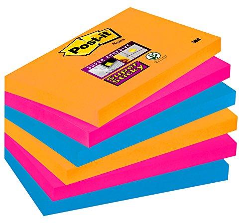 Post-it 655-6SS-EG Pack de 6 Blocs de Notas Adhesivas Multicolor (Bangkok), 76 x 127 mm