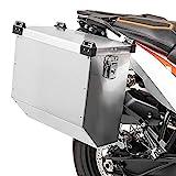 Valigia laterale in alluminio per moto per Benelli Leoncino 250/500 Bagtecs Atlas 41l Borsa