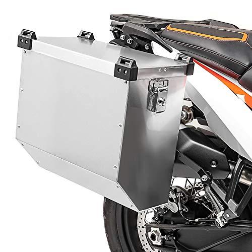 Maleta Lateral de Aluminio para Motos para Triumph Bonneville T100 / T120 Bagtecs Atlas 36l Bolsa Lateral