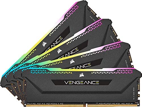Corsair Vengeance RGB Pro SL 32GB (4x8GB) DDR4 3600 (PC4-28800) C18 1.35V – Black (CMH32GX4M4D3600C18)