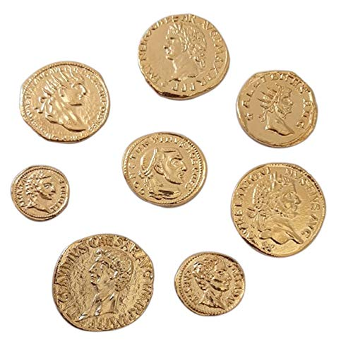 Eurofusioni Monete Romane Imperiali placcate Oro - Set 8 Imperatori Antica Roma