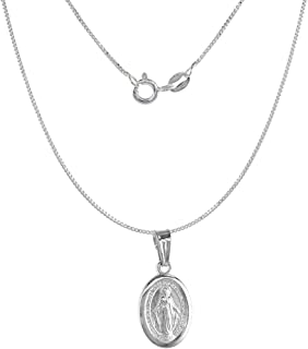 Sterling Silver Diploma Necklace Engraveable Antiqued Finish 16-30 inch 0.8mm Box Chain