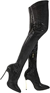 Women's Over The Knee High Boots Pointed Toe Thigh High Bootie Stiletto Zipper